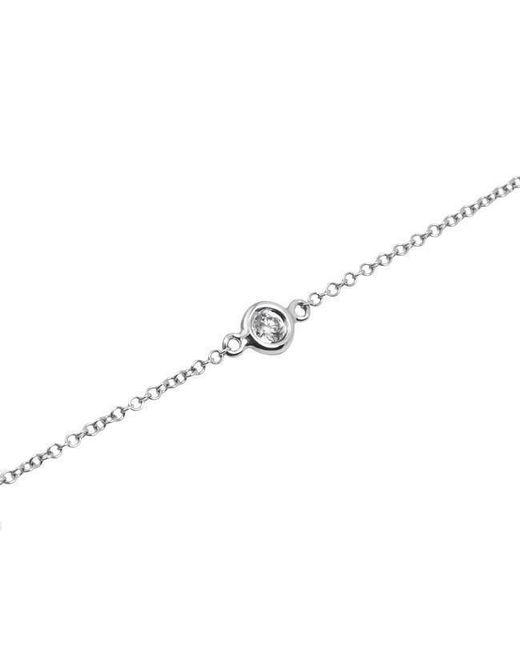 Anne Sisteron Metallic 14kt White Gold Diamond Solitaire Bracelet