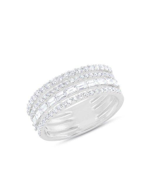 Anne Sisteron - Multicolor 14kt White Gold Diamond Baguette Eternity Ring - Lyst