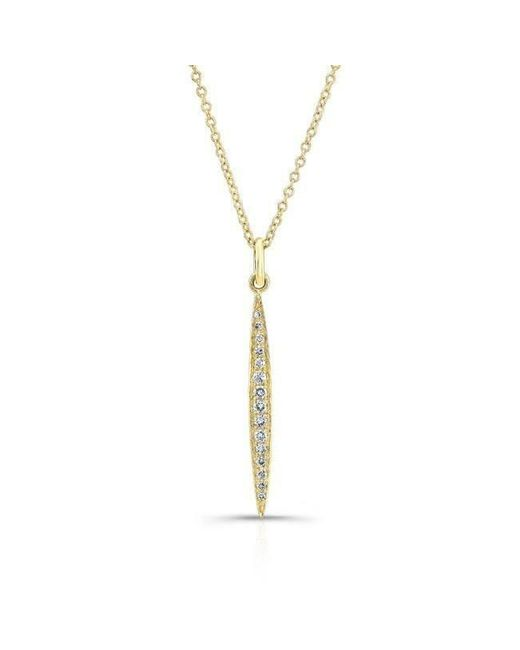 Anne Sisteron - Metallic 14kt Yellow Gold Diamond Thin Petal Necklace - Lyst