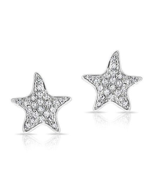 Anne Sisteron - Metallic 14kt White Gold Diamond Starfish Stud Earrings - Lyst