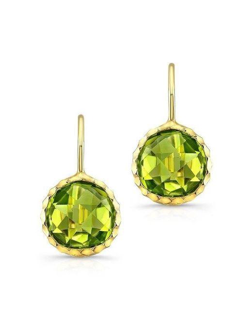 Anne Sisteron - 14kt Yellow Gold Peridot Earrings - Lyst