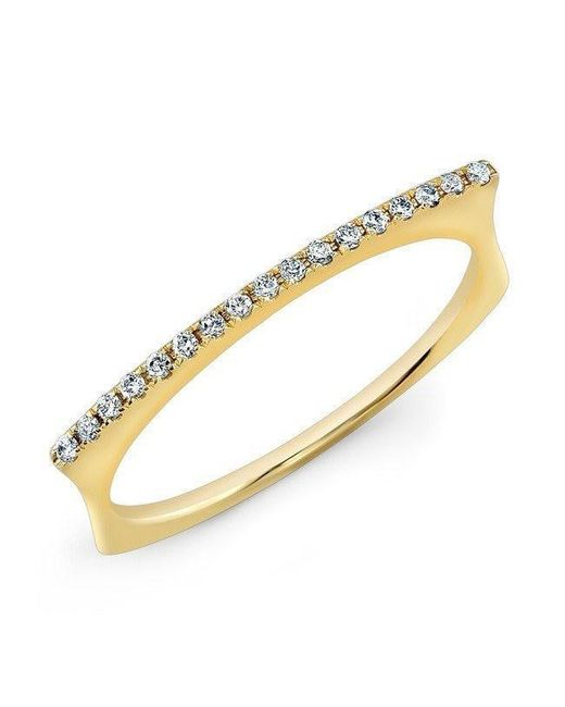 Anne Sisteron - Metallic 14kt Yellow Gold Diamond Bar Dome Ring - Lyst