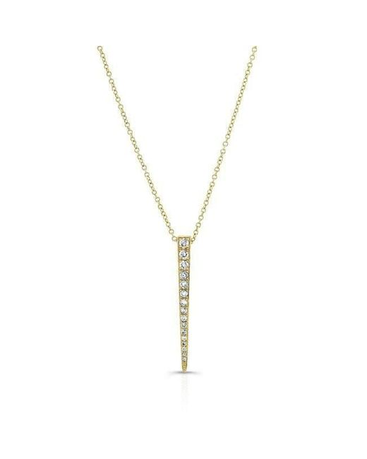 Anne Sisteron - Metallic 14kt Yellow Gold Diamond Large Dagger Necklace - Lyst