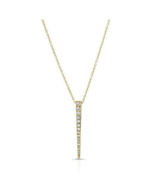 Anne Sisteron - Metallic 14kt Yellow Gold Diamond Large Dagger Necklace - Lyst