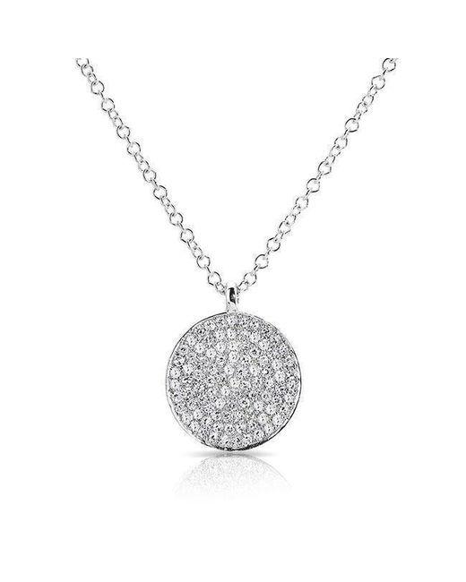 Anne Sisteron - Multicolor 14kt White Gold Diamond Circlet Diamond Disc Necklace - Lyst