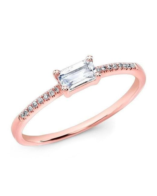 Anne Sisteron - Multicolor 14kt Rose Gold Moonstone Diamond Maddie Ring - Lyst