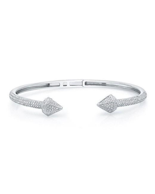Anne Sisteron - Metallic 14kt White Gold Diamond Olympia Cuff - Lyst