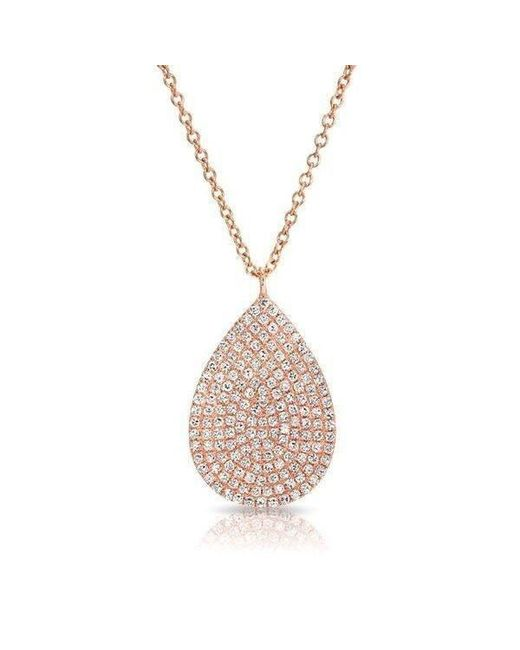 Anne Sisteron | Metallic 14kt Rose Gold Diamond Large Pear Shaped Necklace | Lyst
