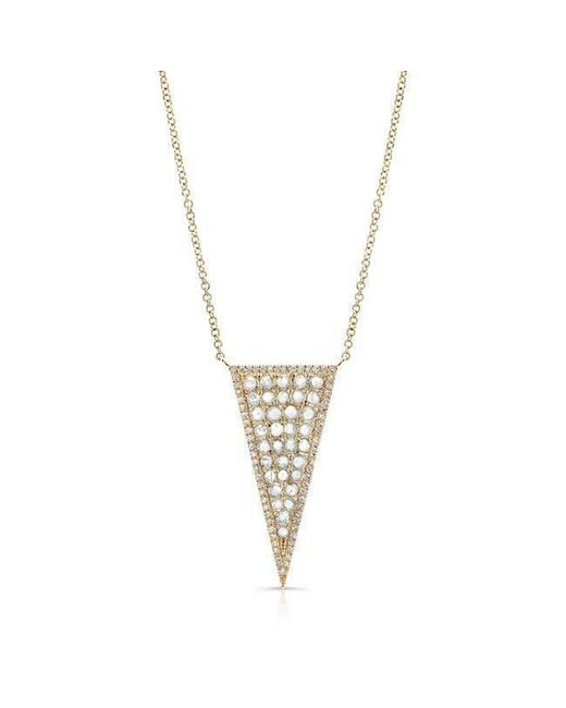 Anne Sisteron | Metallic 14kt Yellow Gold Diamond Slice Triangle Necklace | Lyst