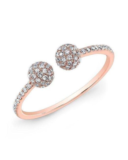 Anne Sisteron - Metallic 14kt Rose Gold Diamond Party Ring - Lyst