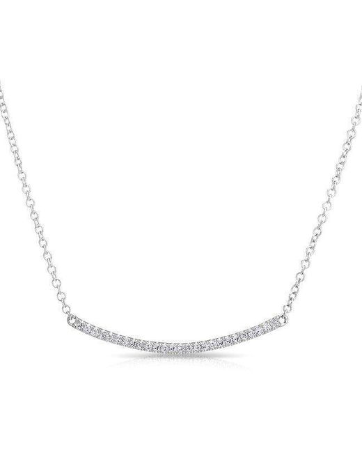Anne Sisteron | Multicolor 14kt White Gold Diamond Mini Crescent Necklace | Lyst