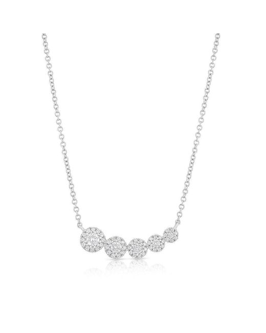 Anne Sisteron - Multicolor 14kt White Gold Diamond Francesca Necklace - Lyst