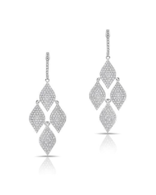 Anne Sisteron - Metallic 14kt White Gold Diamond Medium Marquis Earrings - Lyst