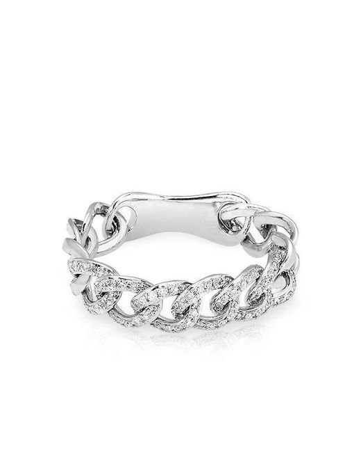 Anne Sisteron - Metallic 14kt White Gold Diamond Chain Link Light Ring - Lyst