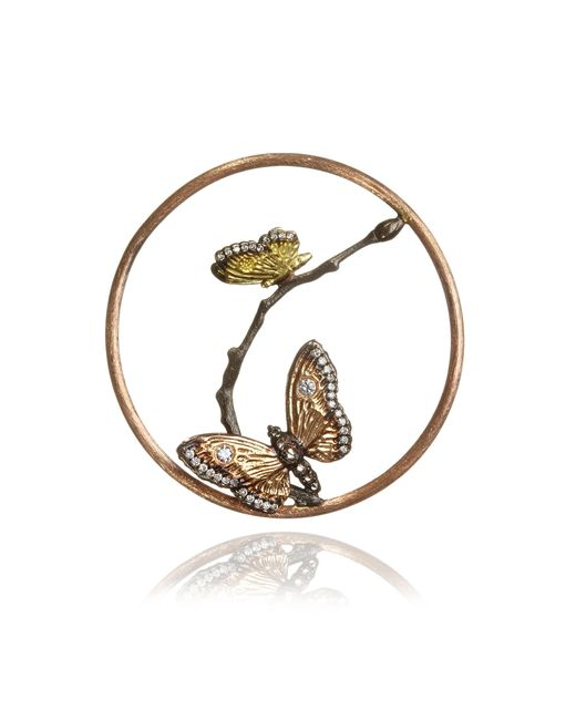 Annoushka - Metallic 18ct Rose Gold Diamond Butterfly Hoopla - Lyst