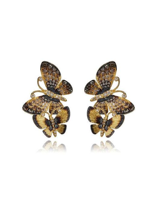 Annoushka - Metallic Butterflies Duet Stud Earrings - Lyst