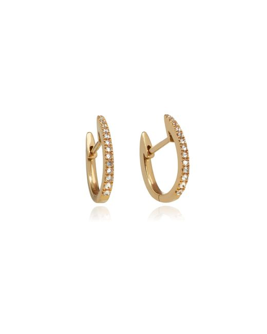 Annoushka - Metallic 18ct Yellow Gold And Brown Diamond Eclipse Fine Hoop Earrings - Lyst