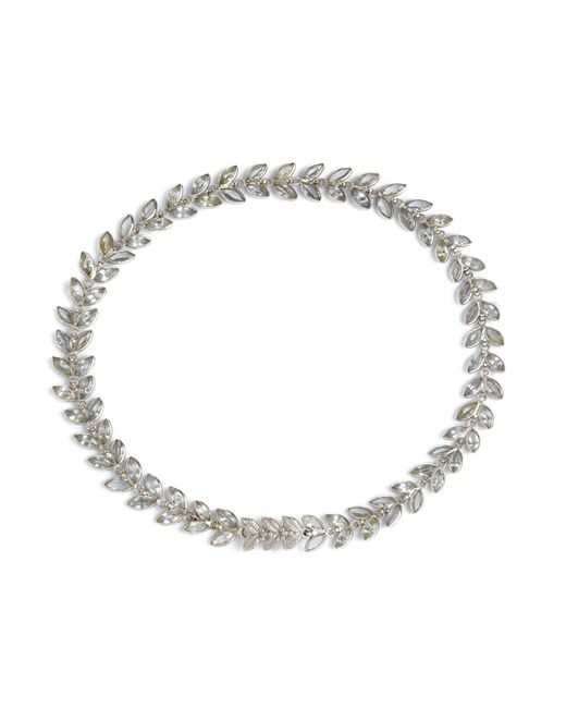 Annoushka - Metallic Vine White Sapphire Bracelet - Lyst