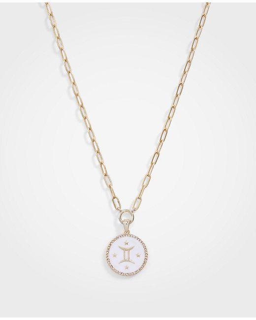 Ann Taylor - Metallic Gemini Zodiac Necklace - Lyst