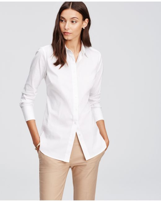 Ann Taylor | White Perfect Shirt | Lyst