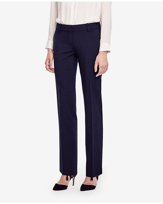 Ann Taylor - Blue The Petite Straight Leg Pant In All-season Stretch - Devin Fit - Lyst