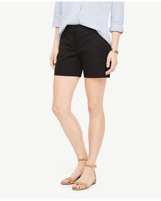 Ann Taylor - Black Petite Shadowed Floral Shorts - Lyst