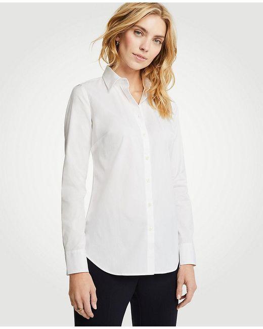 Ann Taylor - White Petite Perfect Shirt - Lyst