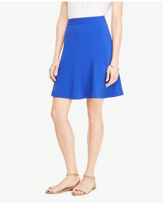 Ann Taylor | Blue Petite Full Skirt | Lyst