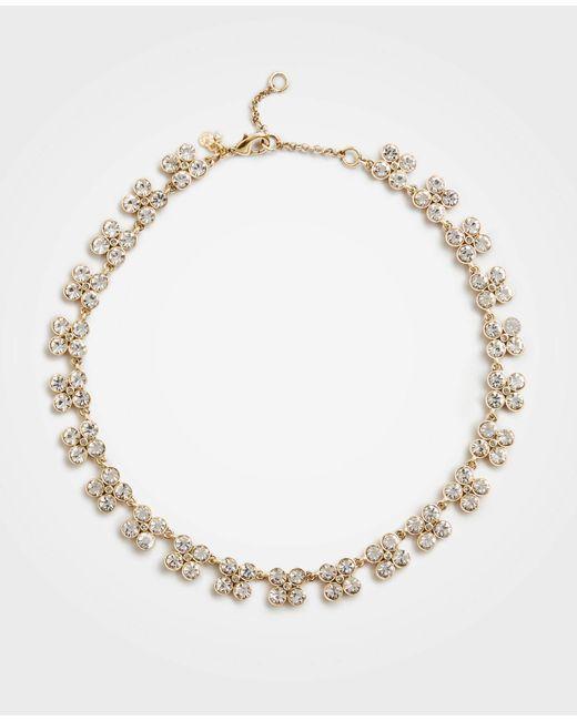 Ann Taylor - Metallic Clover Crystal Statement Necklace - Lyst