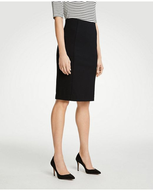 30a4fe0378 Ann Taylor Curvy Ponte Pencil Skirt in Black - Save 51% - Lyst