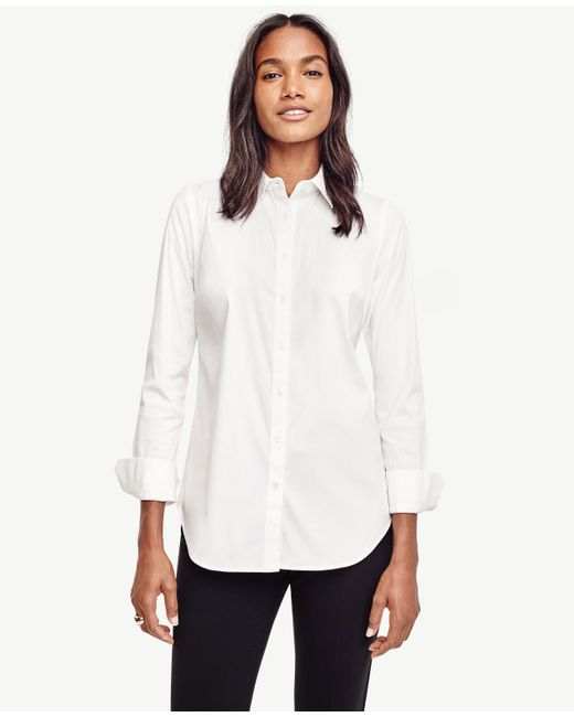 Ann Taylor | White Petite Perfect Shirt | Lyst