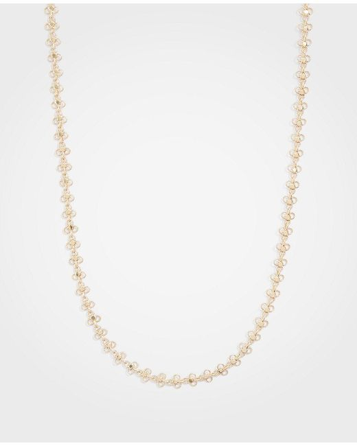 Ann Taylor - Metallic Clover Station Necklace - Lyst