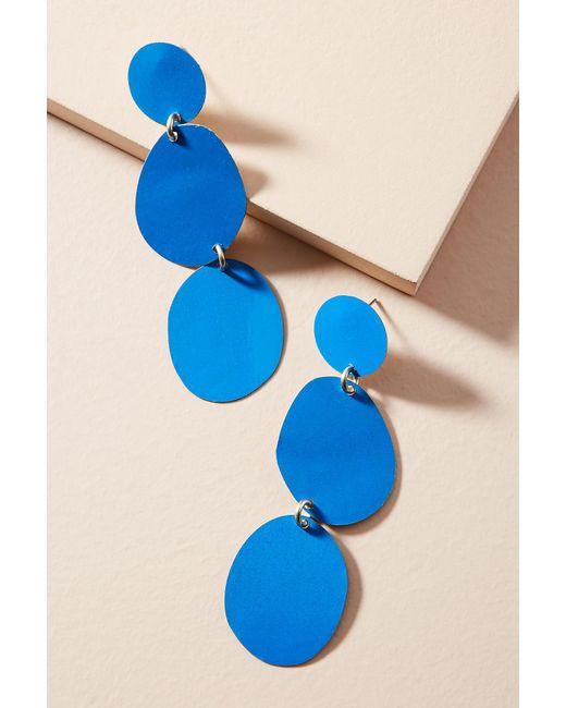 Sibilia   Blue Painted Pebble Drop Earrings   Lyst