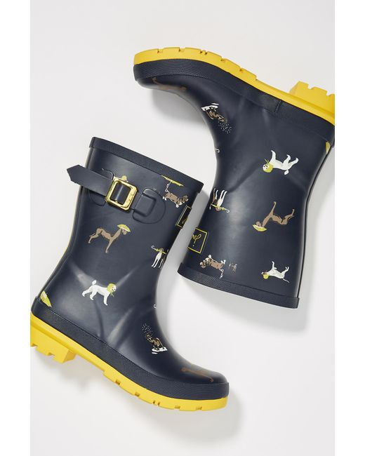 Joules - Blue Molly Short Rain Boots - Lyst