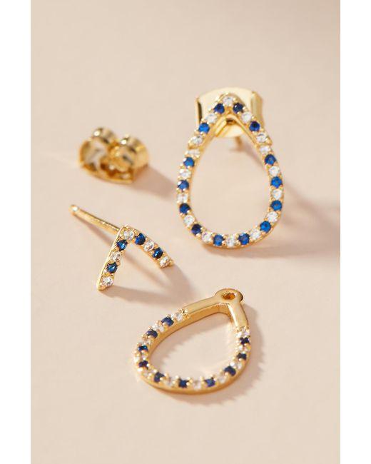 Anthropologie - Blue Meghan Teardrop Post Earrings - Lyst