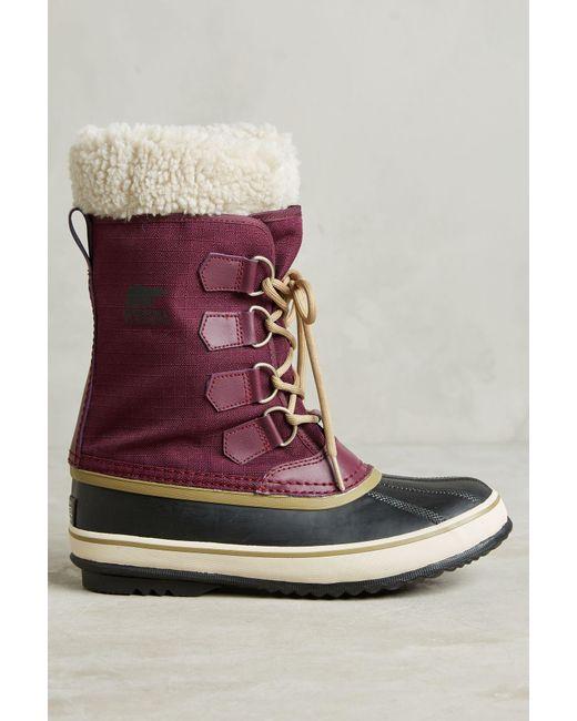 Sorel | Brown Winter Carnival Purple Snow Boot | Lyst