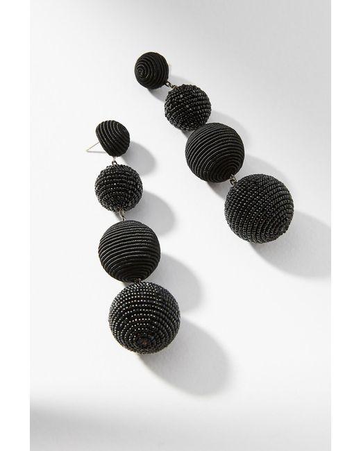 Suzanna Dai | Black Beaded Disco Drop Earrings | Lyst