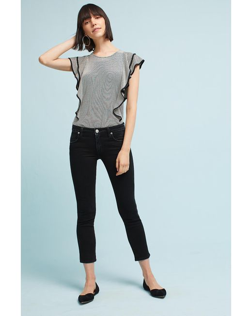 AMO   Black Kate Mid-rise Cropped Jeans   Lyst