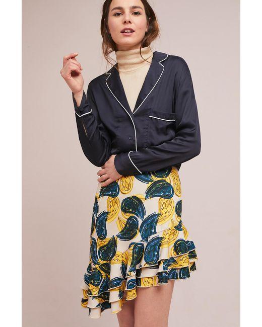 C/meo Collective - Blue Havana Ruffled Skirt - Lyst