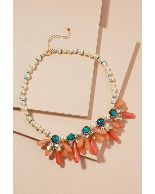 Anthropologie | Multicolor Vreeland Pearl & Stone Necklace | Lyst