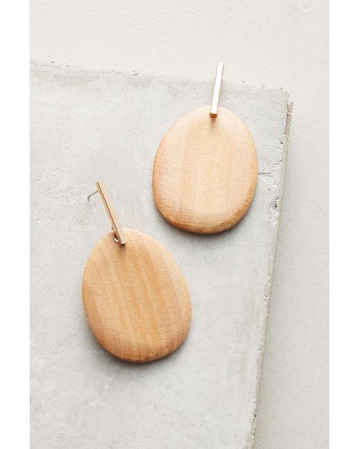 Sophie Monet | Brown Petal Pine Drop Earrings | Lyst