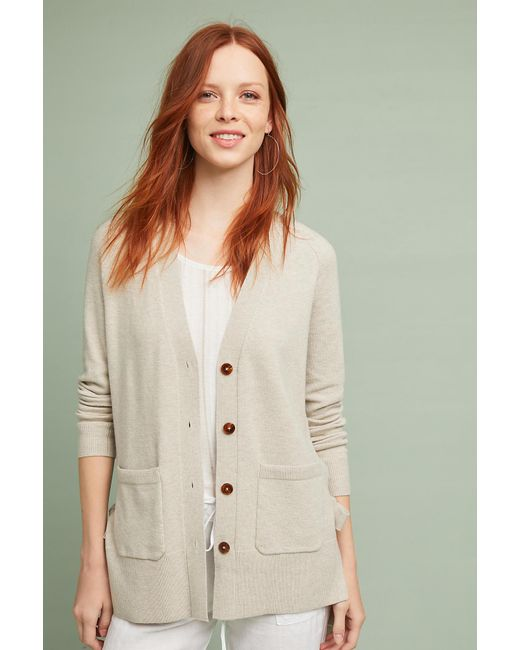 Anthropologie - Natural Lace-up Cardigan - Lyst