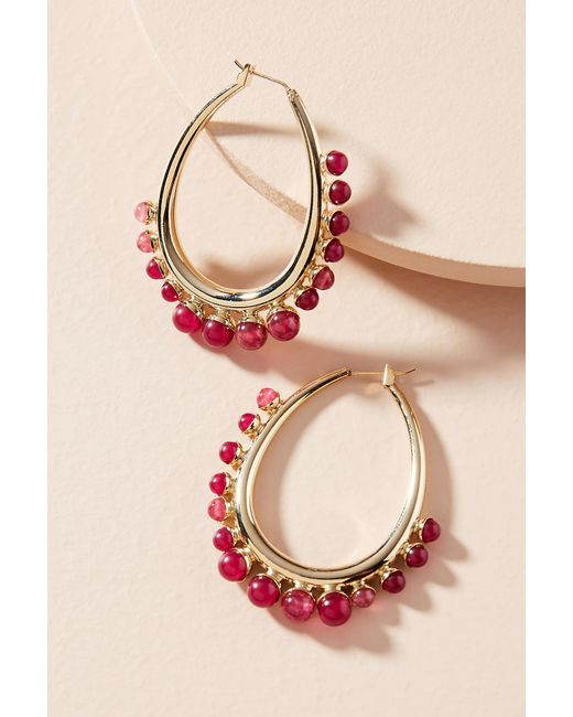 Anton Heunis | Pink Thea Hoop Earrings | Lyst