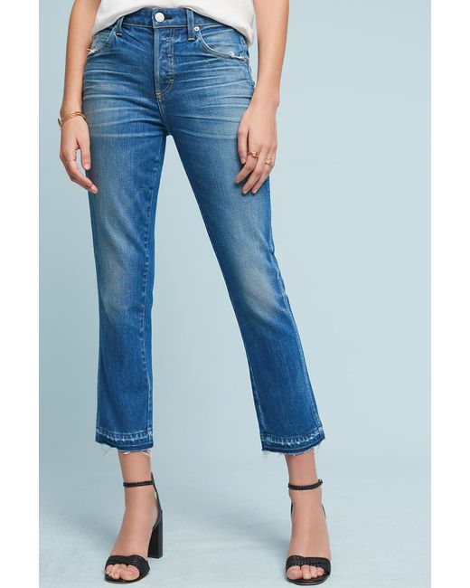 AMO   Blue Babe High-rise Straight Cropped Jeans   Lyst