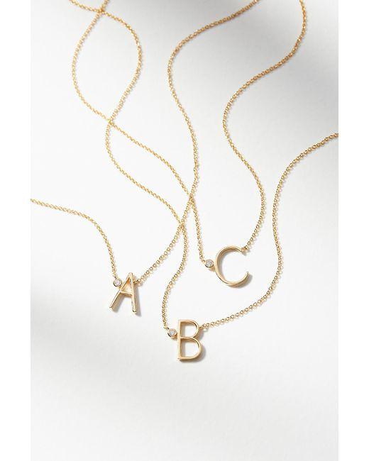 Anthropologie | Multicolor Delicate Monogram Necklace | Lyst