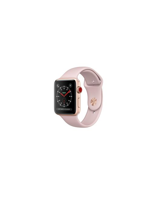 Apple - Metallic Watch Series 3 Gps + Cellular 38mm Aluminium Case Gold With Pink Sand Sport Band - Lyst
