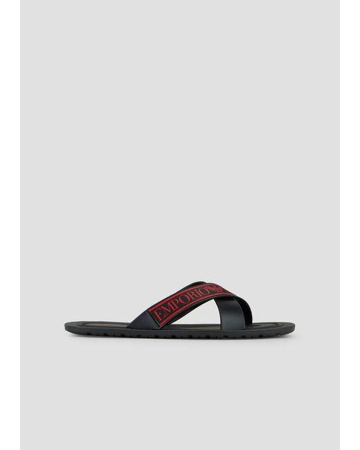 b0dc4b4ae6326c Emporio Armani - Black Sandals for Men - Lyst ...