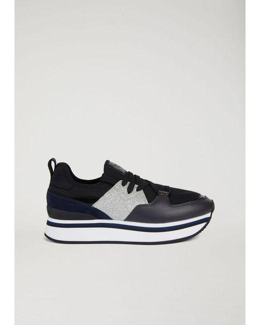 Emporio Armani - Blue Sneakers - Lyst