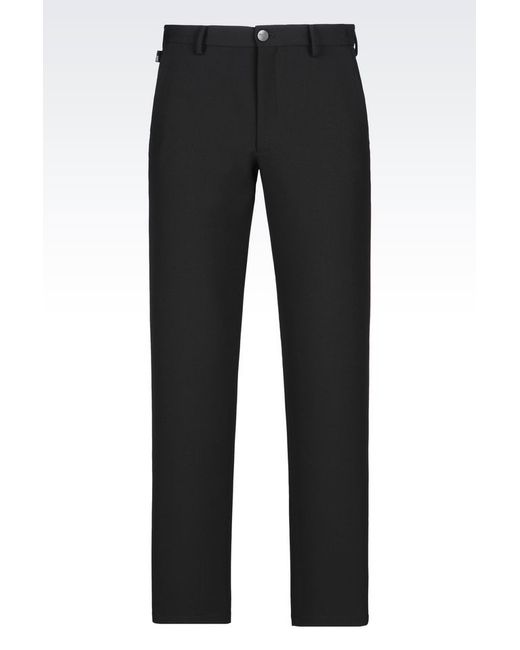 Armani | Black Classic Trousers for Men | Lyst