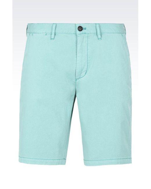 Armani Jeans | Green Bermuda Short for Men | Lyst